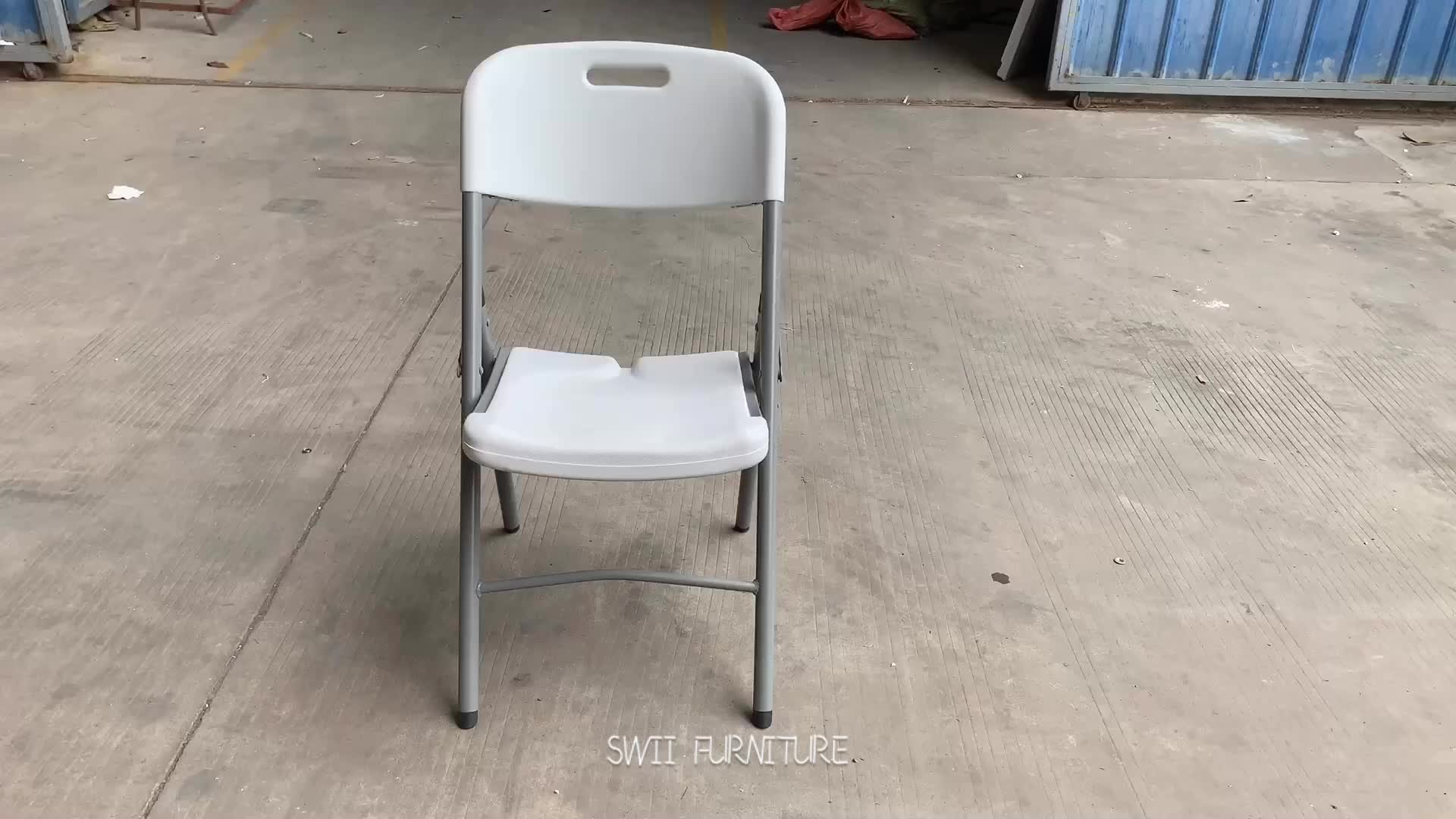 Cheap garden outdoor restaurant dining stacking white wedding party event plastic folding chair for sale