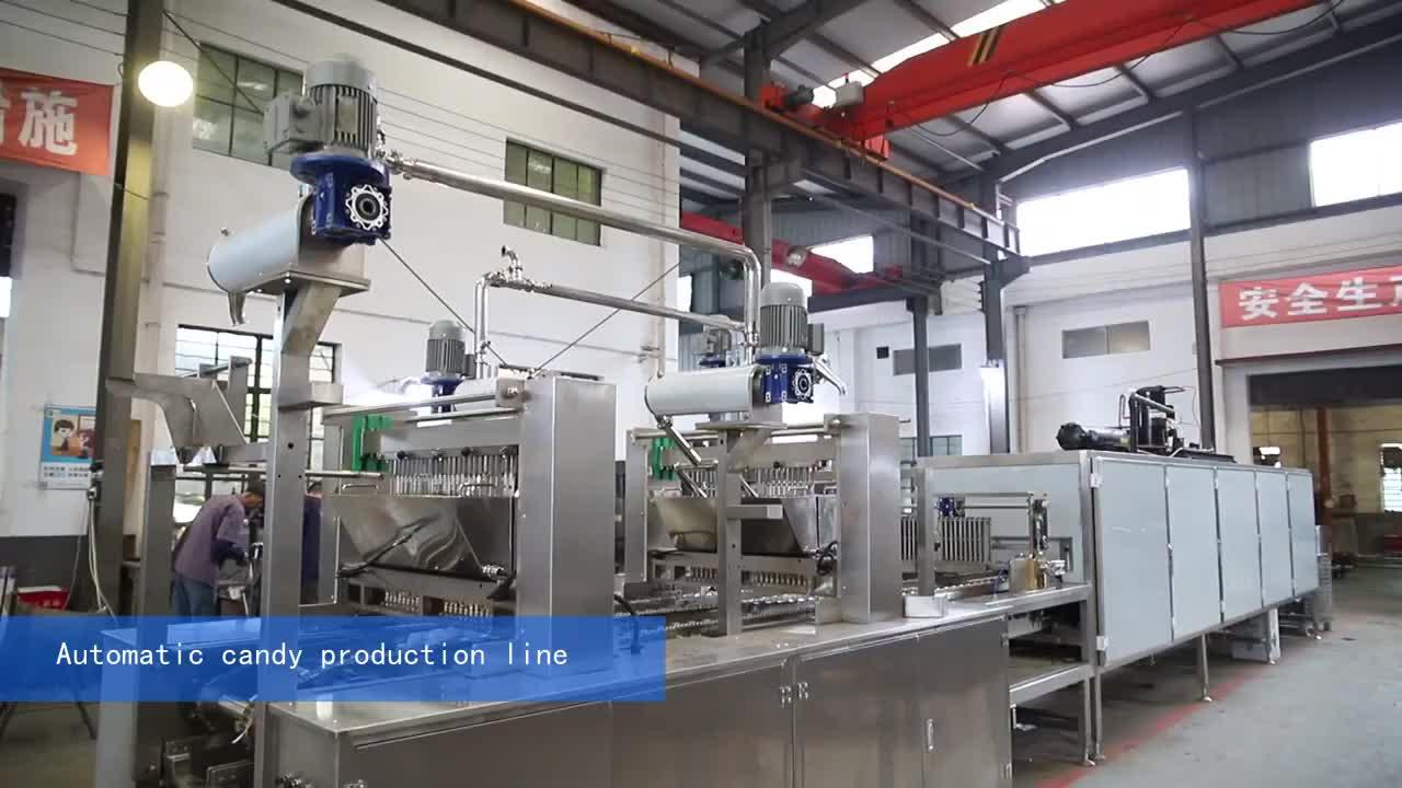 SS316 mini  automatic servo cbd gummies vitamin gummy bear production line candy machine manufacture