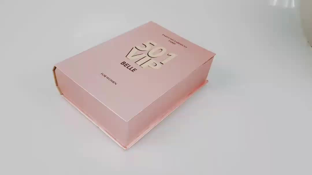 handmade packaging pink cosmetic paper gift box