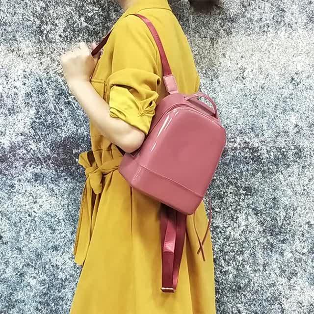 2019 ホット製品ファッションピンクスパンコールバッグスパンコールバックパックバッグガールピンク学生ゼリーバックパック