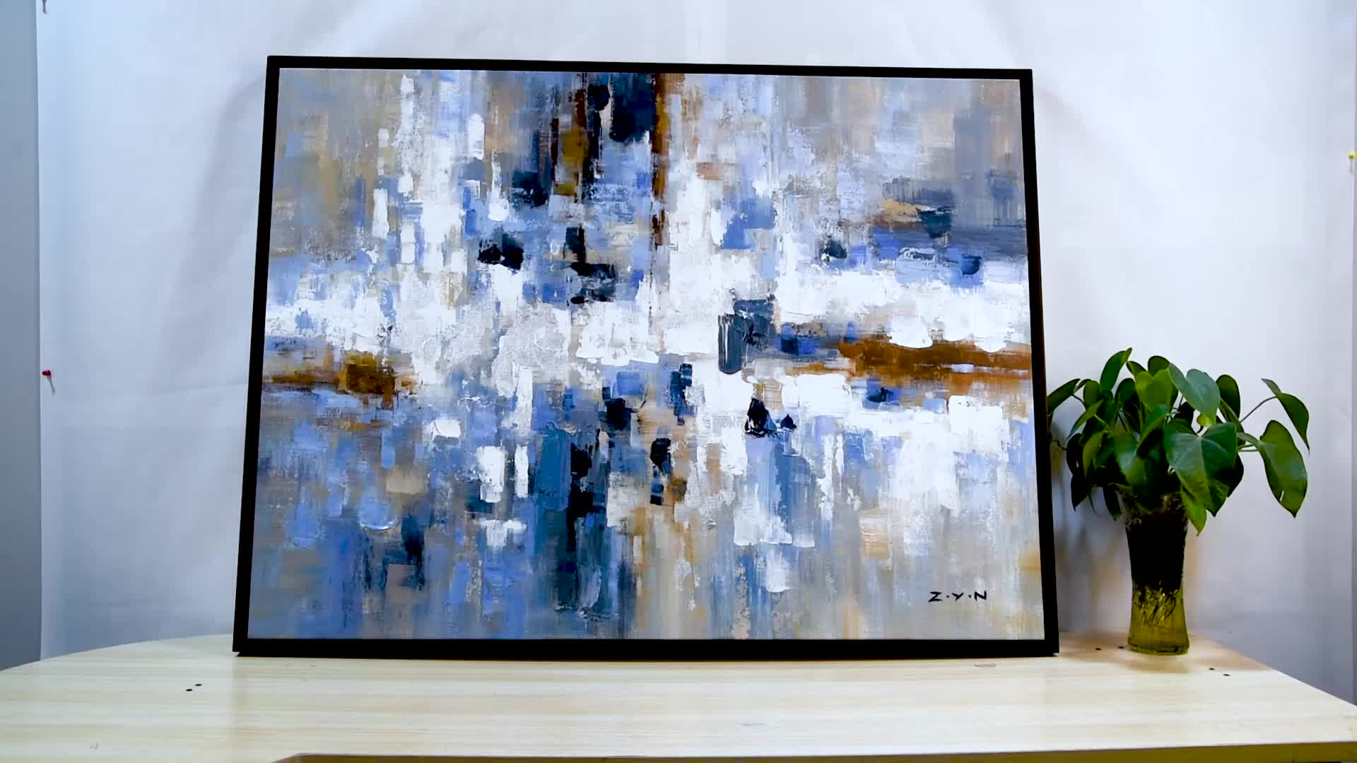 Abstract Hand Painted Canvas Oil Painting on Canvas Fabric
