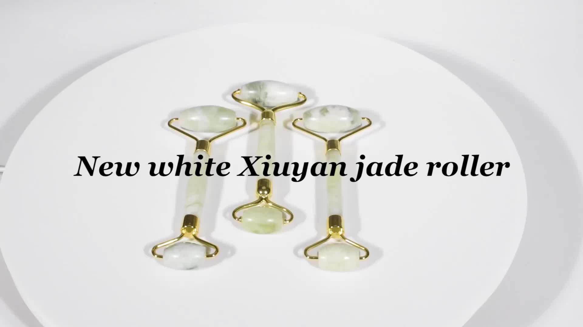 Großhandel natürlichen reinen anti-aging jade roller und guasha set für gesicht schlank und falten