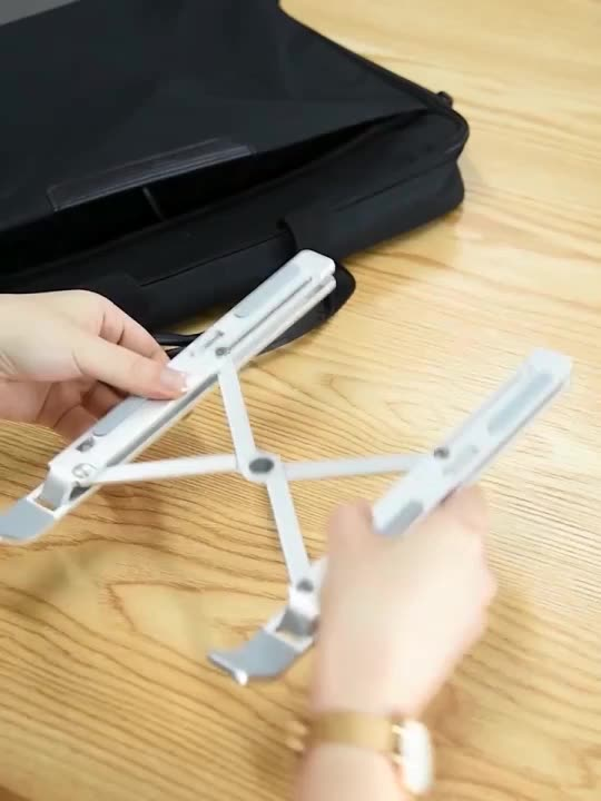 Laptop Stand PC Holder Riser Computer Stand Aluminum 7-Angles Adjustable Ventilated Cooling Notebook Stand Mount