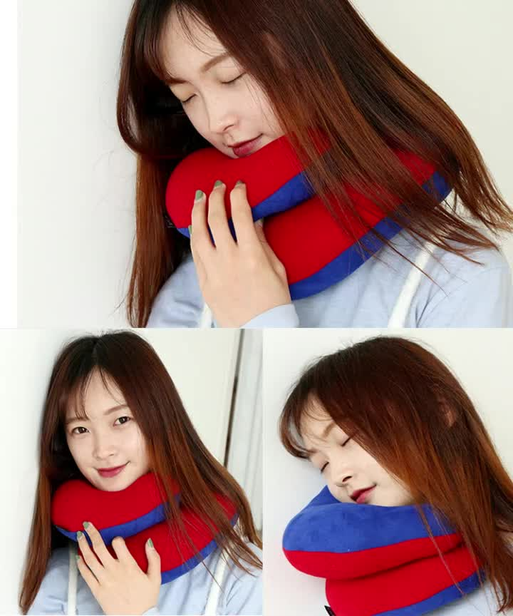 Chin Supporting Travel Pillow The Head Neck & Chin Pillow Soft and Cozy Traveling  Home Rest Pillow By Car Airplane