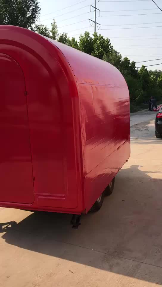 mobile Food truck trailer ice cream machine cart for sale
