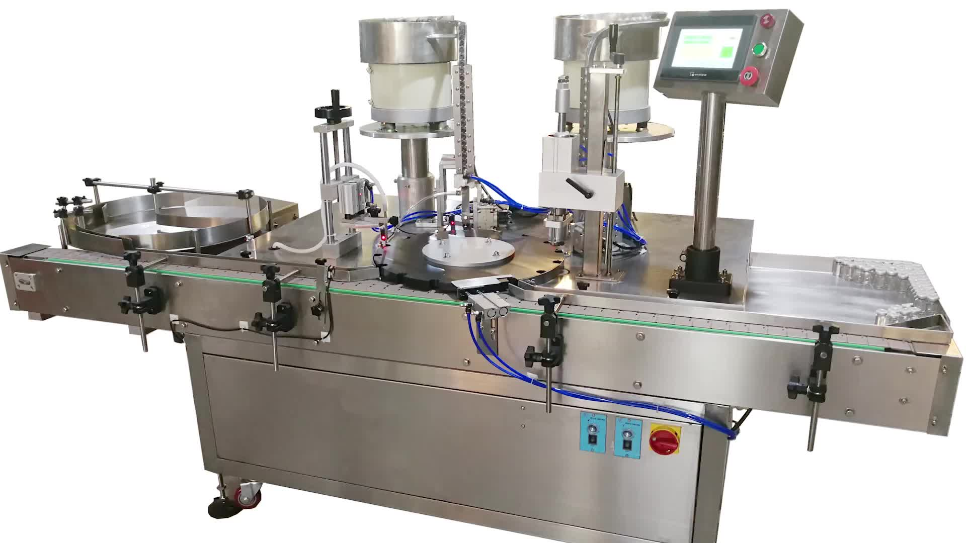 Medical glass round bottle syrup filling and capping machine high speed