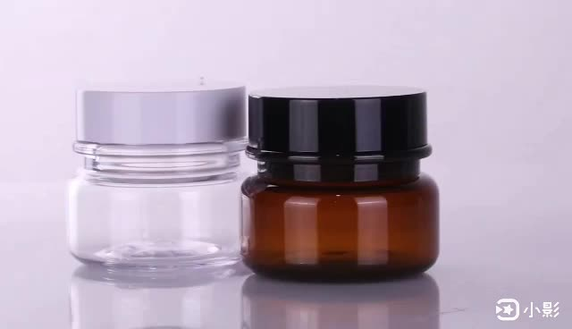 Fuyun MOQ 1pcs Clear plastic PET cosmetic jar for face cream with screw lid