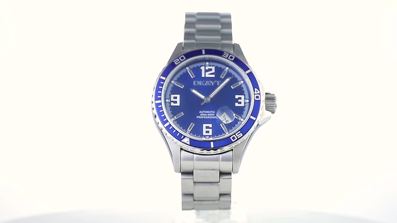 Classic Luxury Stainless Steel 10ATM Waterproof Automatic Dive Watch Brand