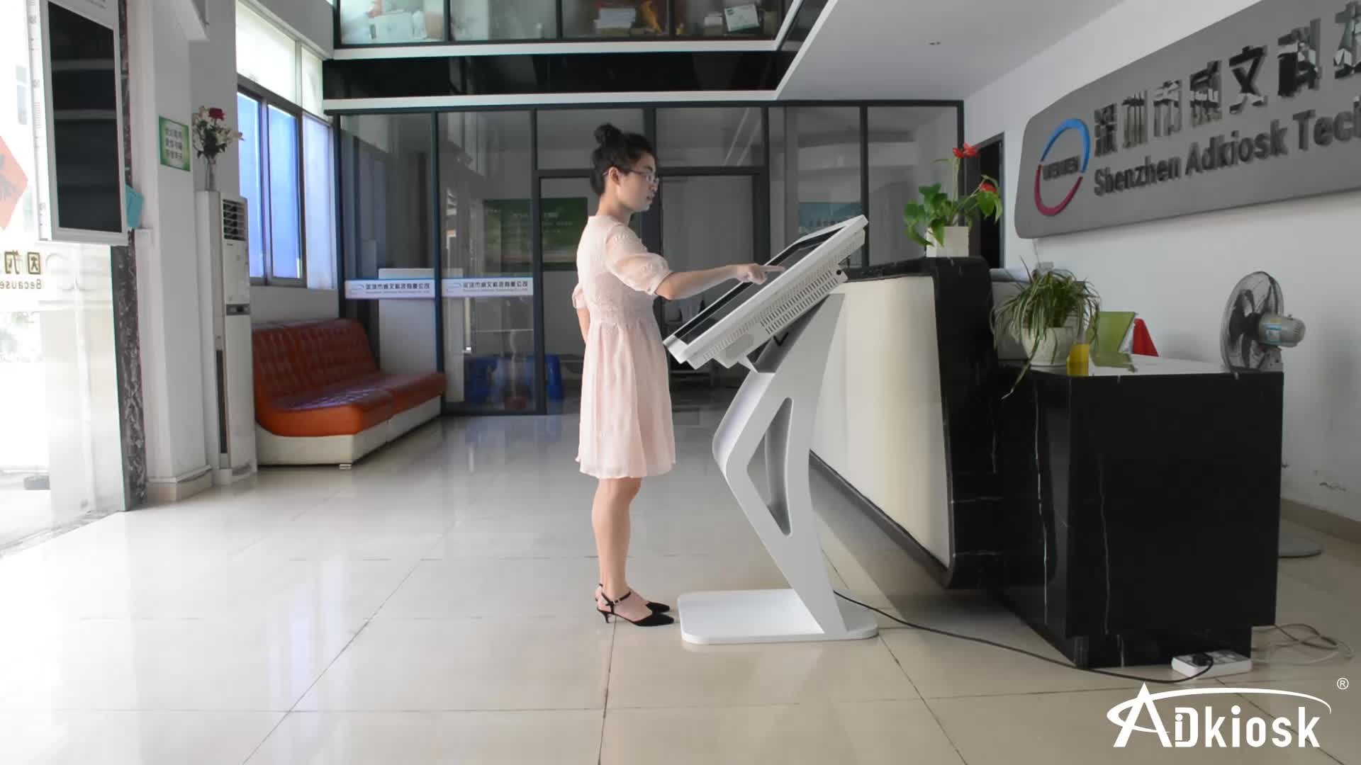 2016 Hot !!! J Free stand Big Screen LCD Self service touch screen information kiosk