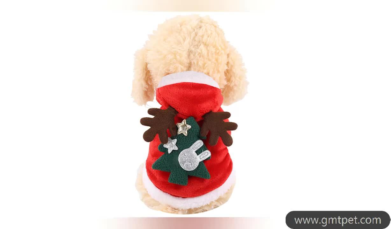Wholesale Christmas Pet Dog Clothes Dog Hoodie Coat Dog Funny Clothes Santa Claus Style Pet Clothes