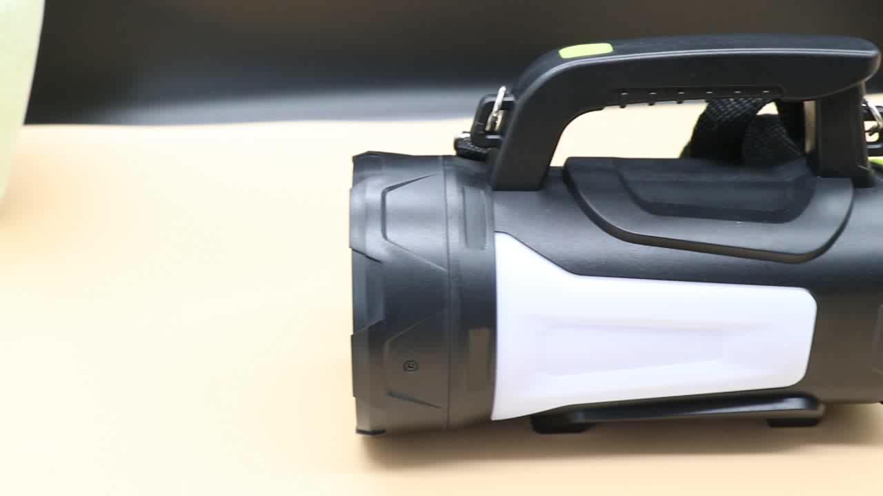 100 واط استخدام طويل 8000 التجويف USB إضاءة بحث قابلة للشحن فانوس التخييم مقاومة للماء في الهواء الطلق البحث مصباح يدوي للصيد الصيد