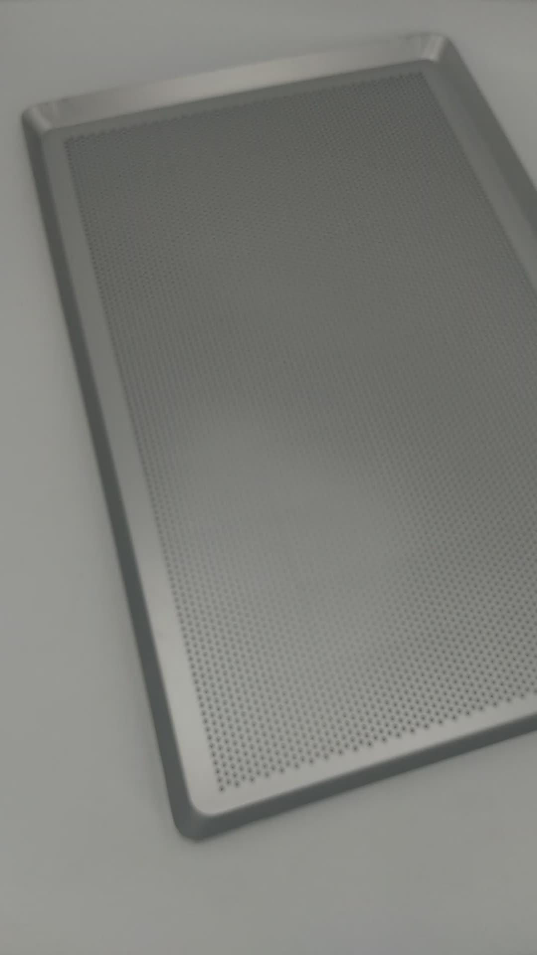 Food grade in alluminio perforato cottura vassoi 600x400 millimetri di cottura pan