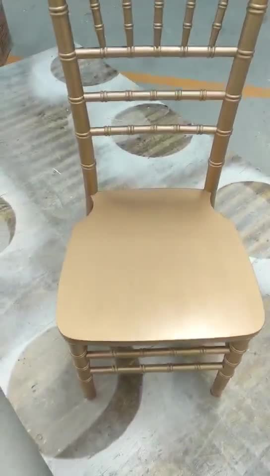 2019 Good quality wedding wood chairs dining room tiffany chairs gold wholesale