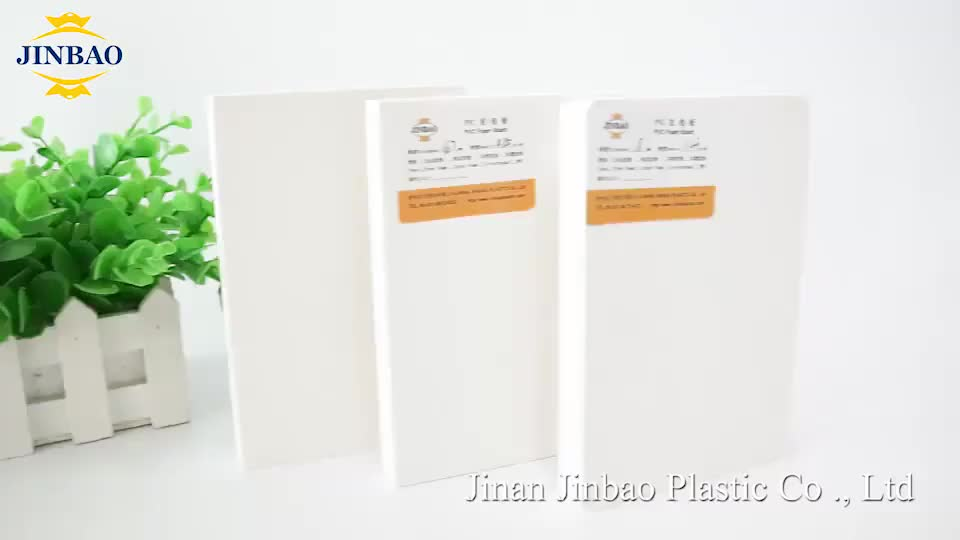 JINBAO 1220*2440mm cutting size custom thickness color panel pvc for sigh boards