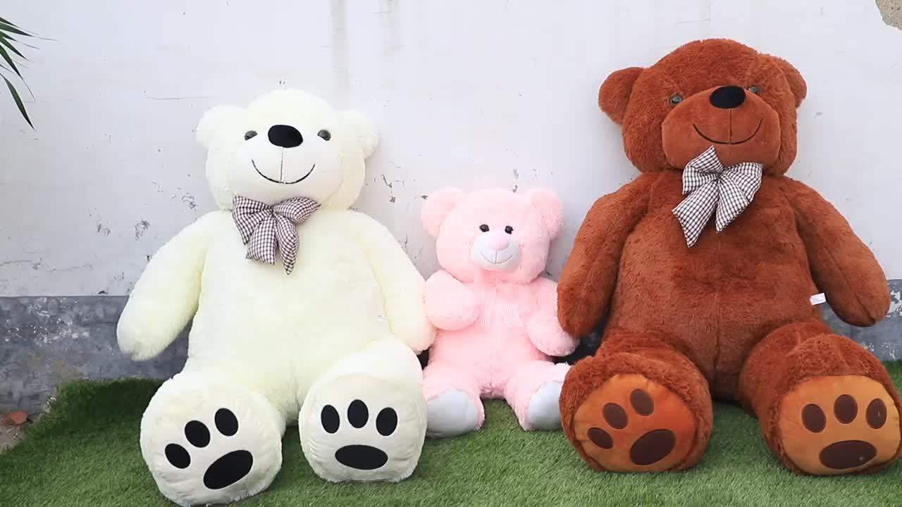 BSCI Fabrik Große Größe Teddybär 200 cm Plüsch Großen Ausgestopften Bären