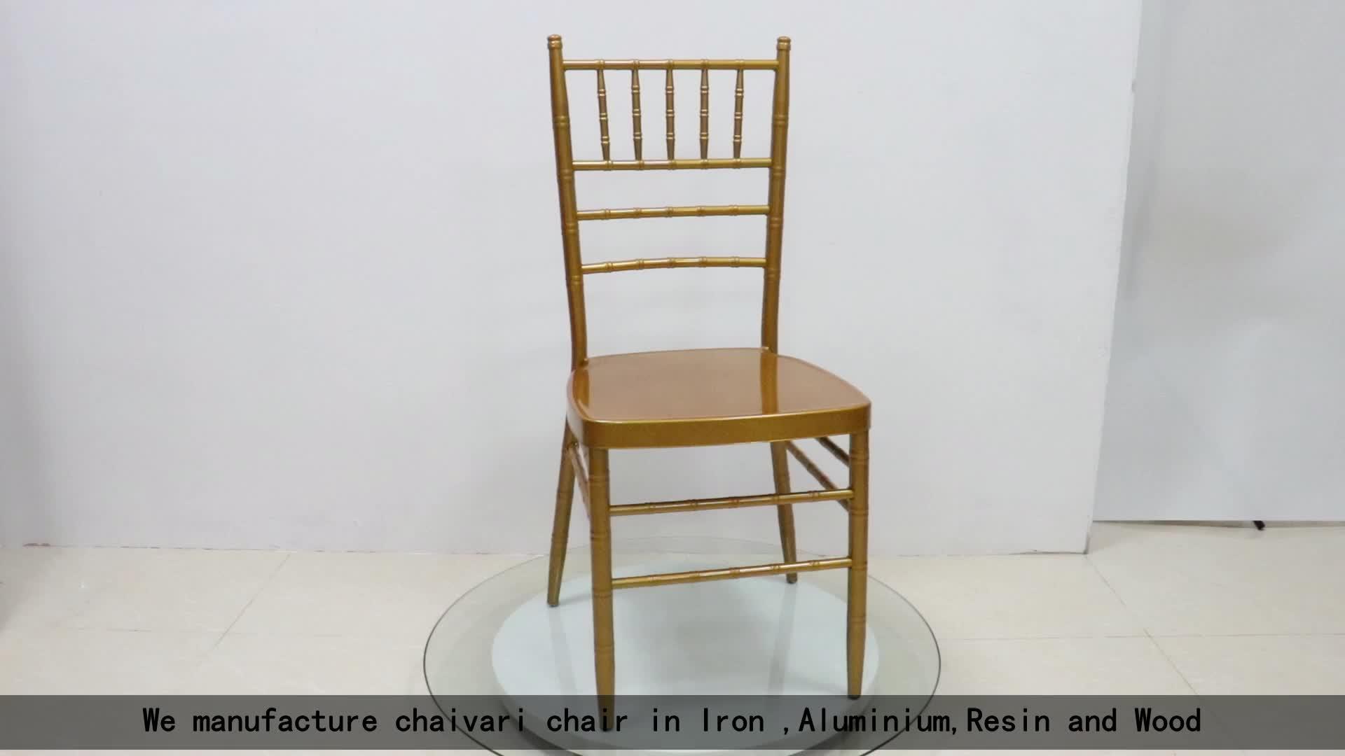 Or blanc de mariage banquet chiavari tiffany chaise