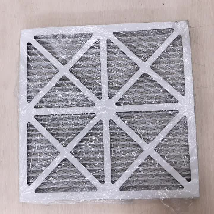 G3 G4 primary pleated air filter media with cardboard frame for clean room