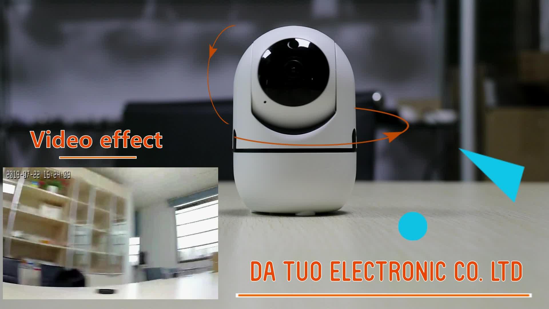 Apparence sophistiquée 720 P suivi de mouvement automatique caméra ip WiFi connect pour Android et iOs téléphone