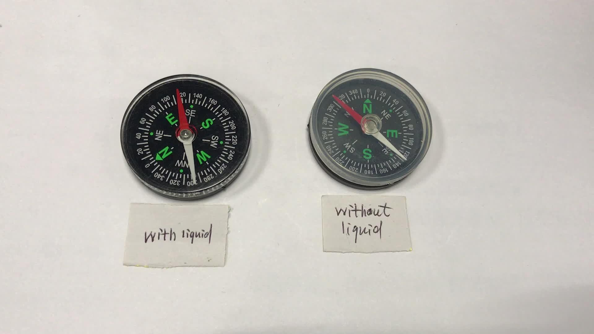 Plastic kompas Fabricage Plastic Kompas Met Vloeistof Gevuld Met Hoge Kwaliteit