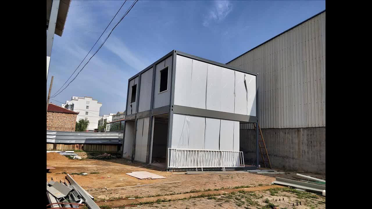 Istiflenebilir mobil restoran prefabrik kargo konteyneri ev