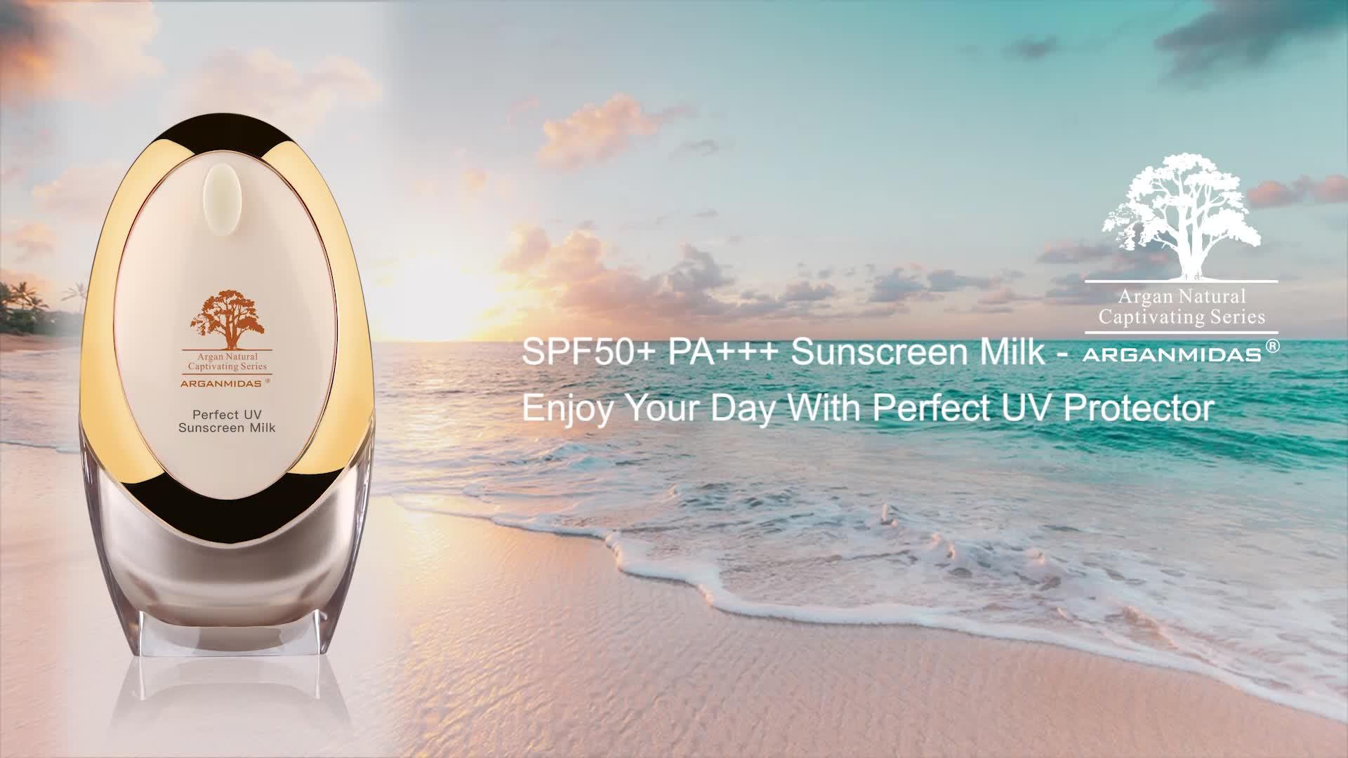 Benutzerdefinierte Private Label Wasserdichte Sonnencreme SPF 50 + PA + + + Bleaching Sonnenschutz Für Fettige Haut