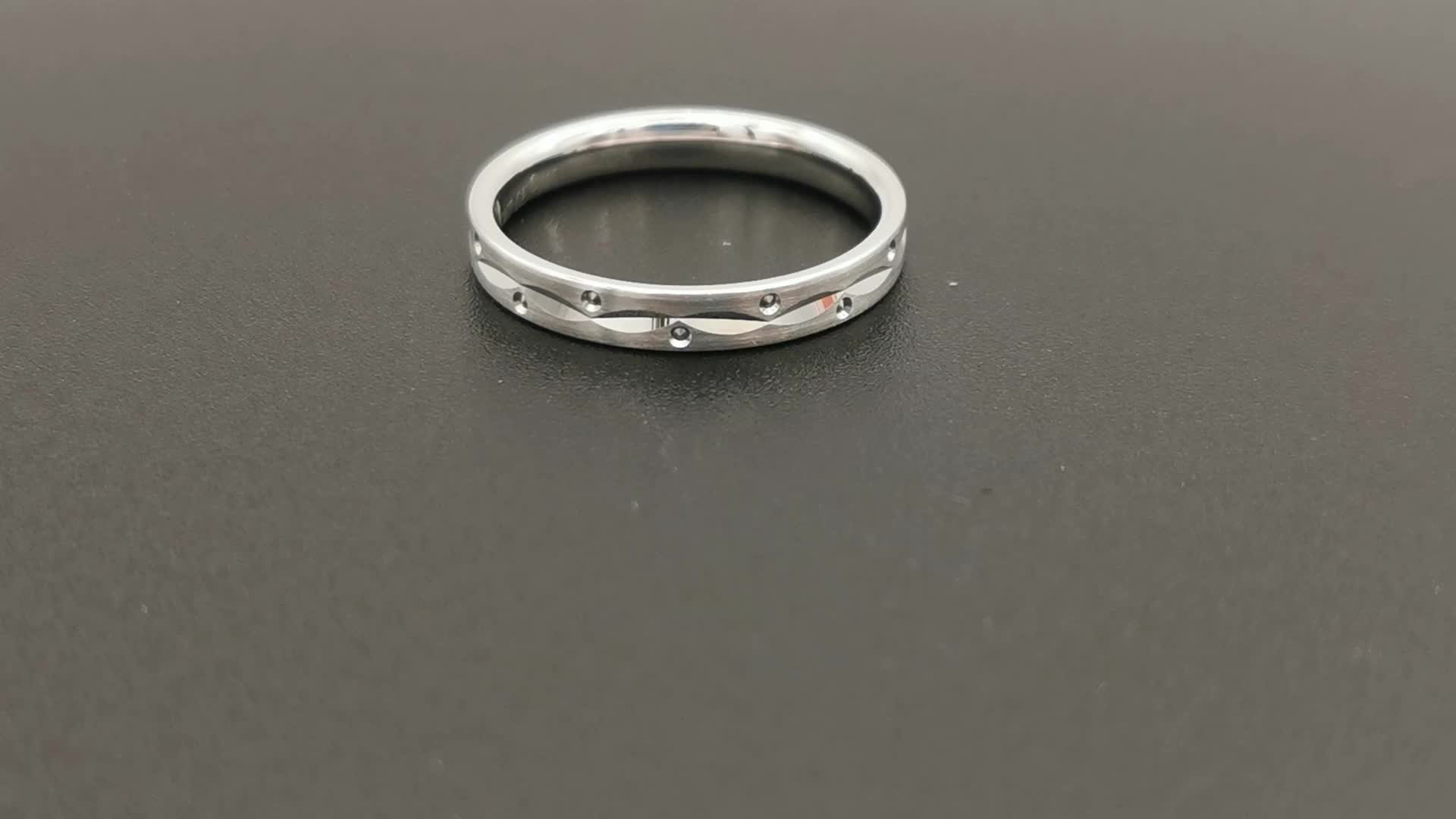 unique  pure tungsten ring polished tungsten custom signet ring