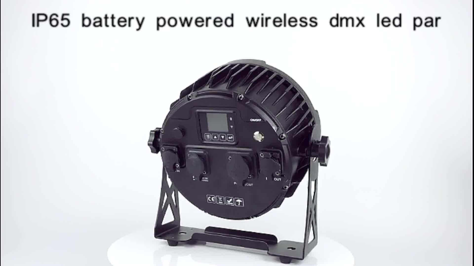 Pars IP65 12pcs 15w Impermeabile Batteria DMX Wireless 6Pars in Ricaricabile Caso di Volo Per Led Par Batteria luce