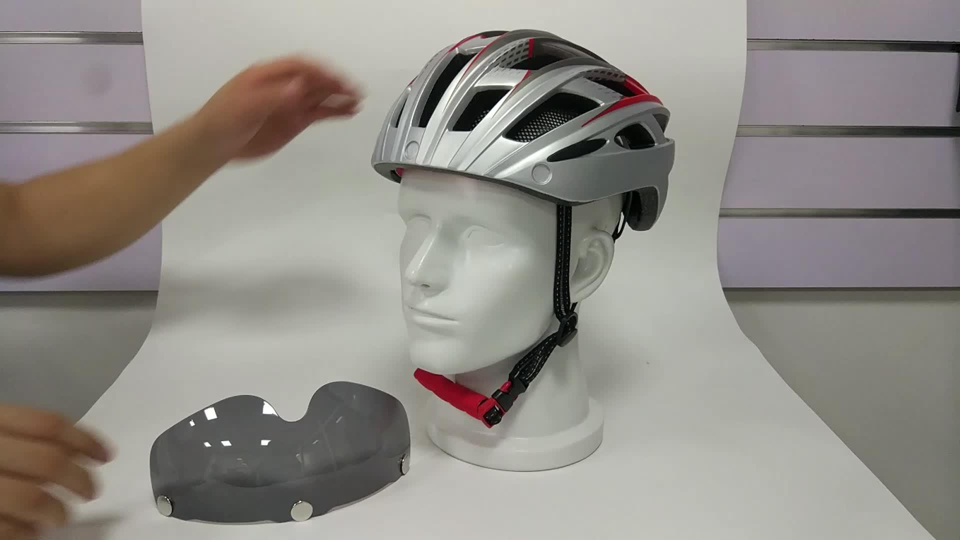 78d90fbe Factory price adults Safety Road Bike halmet Bicycle Helmet with Sun visor