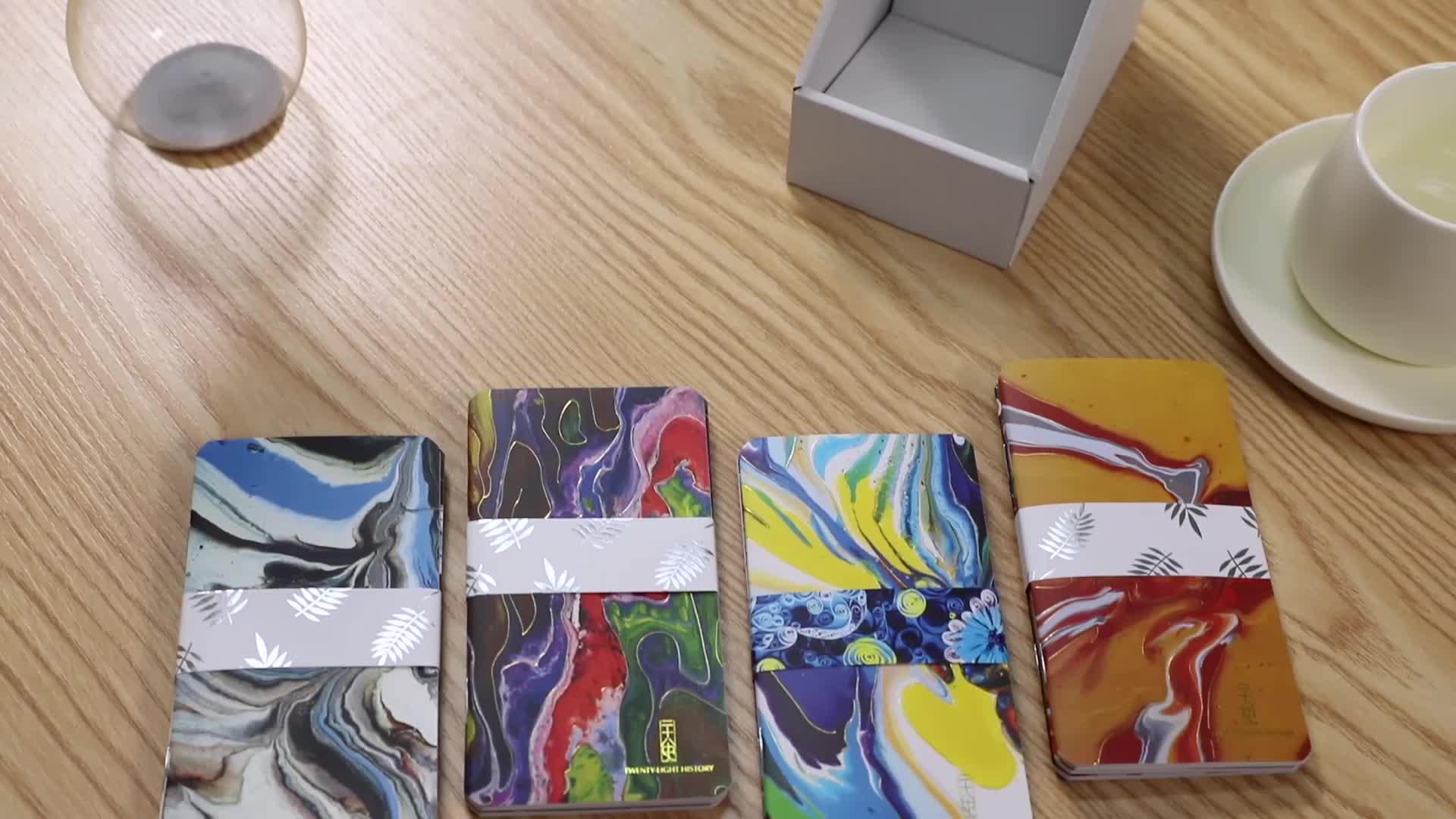 Marmo Della Parete di Carta Copertina Personalizzata Studente Carino Notebook Memo Pad con Il Marchio del Cliente