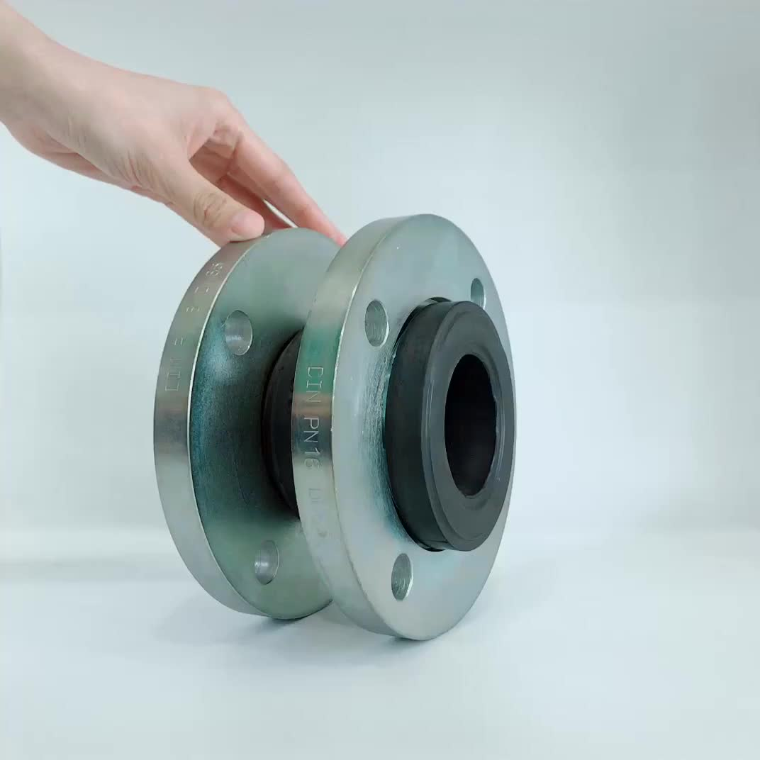 Huayuan REJ100 DIN PN16 flanged epdm expansion joint rubber coupling