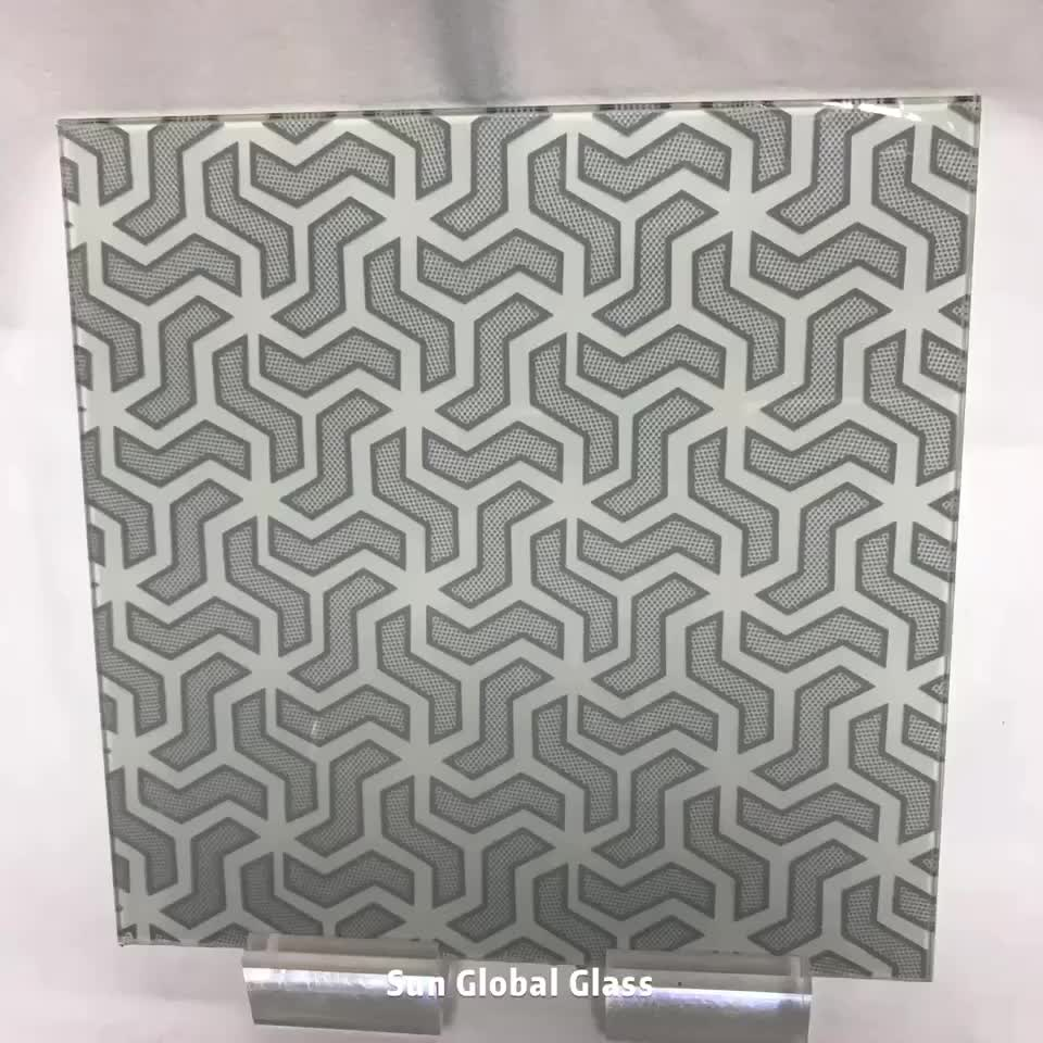 China factory hot selling high quality silk screen printing ceramic frit colored painted fully tempered toughened glass price m2