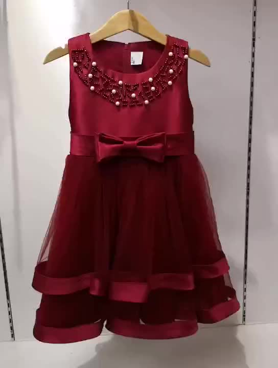 3c64c1246 Baby Frock Design Latest Fashion Party Wear Beautiful Red Color Flower Girl  Dress For Wedding L5017