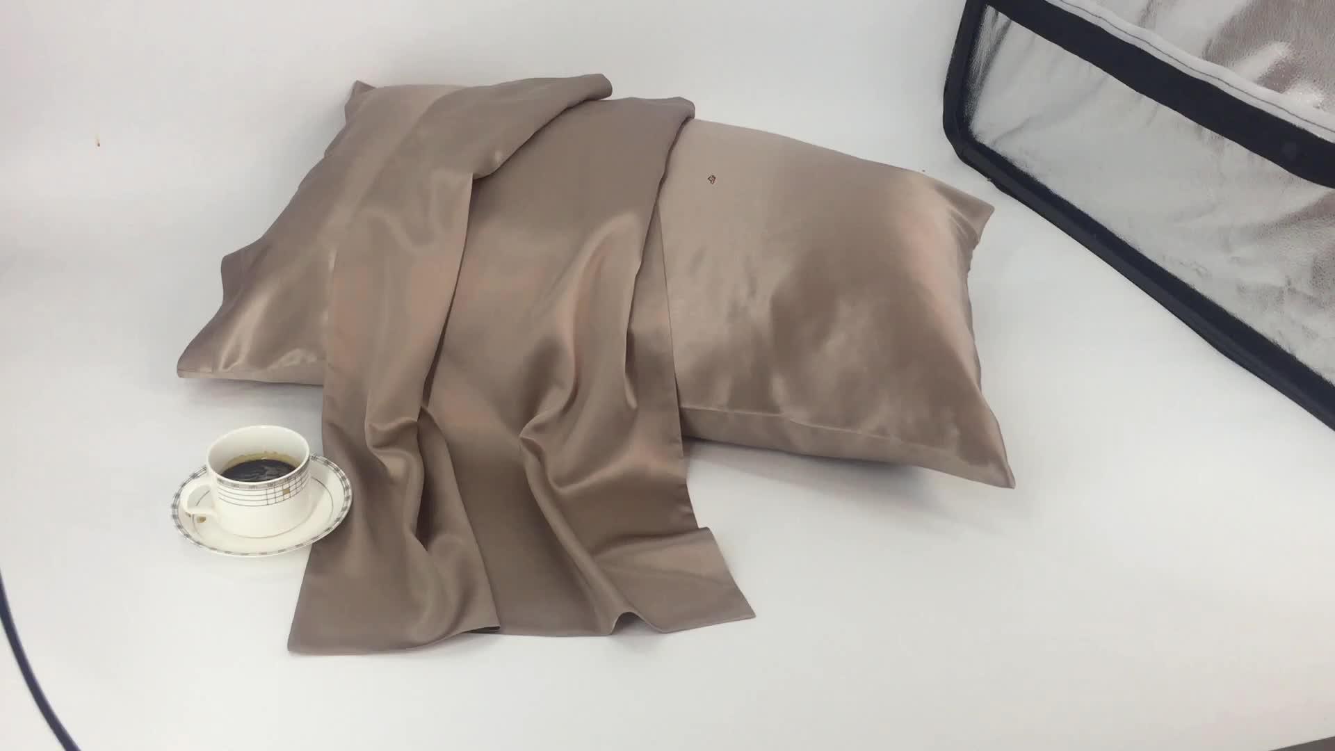 ललित SERINDA रेशम Pillowcase लक्जरी क्रिसमस उपहार 100% रेशम साटन 19 m/मी 22 m/मी Pillowcase