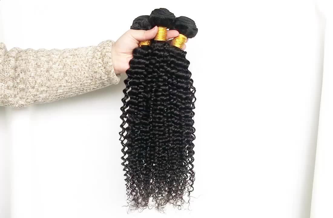 Cabelo humano barato pacotes com frontais rendas, 18 anos de idade menina de cabelo encaracolado kinky peruano virgem, aceitar hd laço frontal