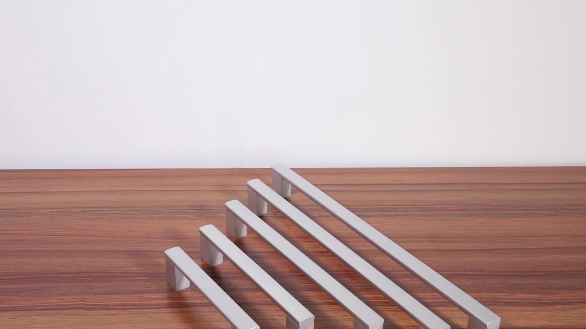 الحديث بسيط مربع الأثاث الأجهزة سبائك الألومنيوم مطبخ مقابض للخزانة خزانة خزانة درج يسحب