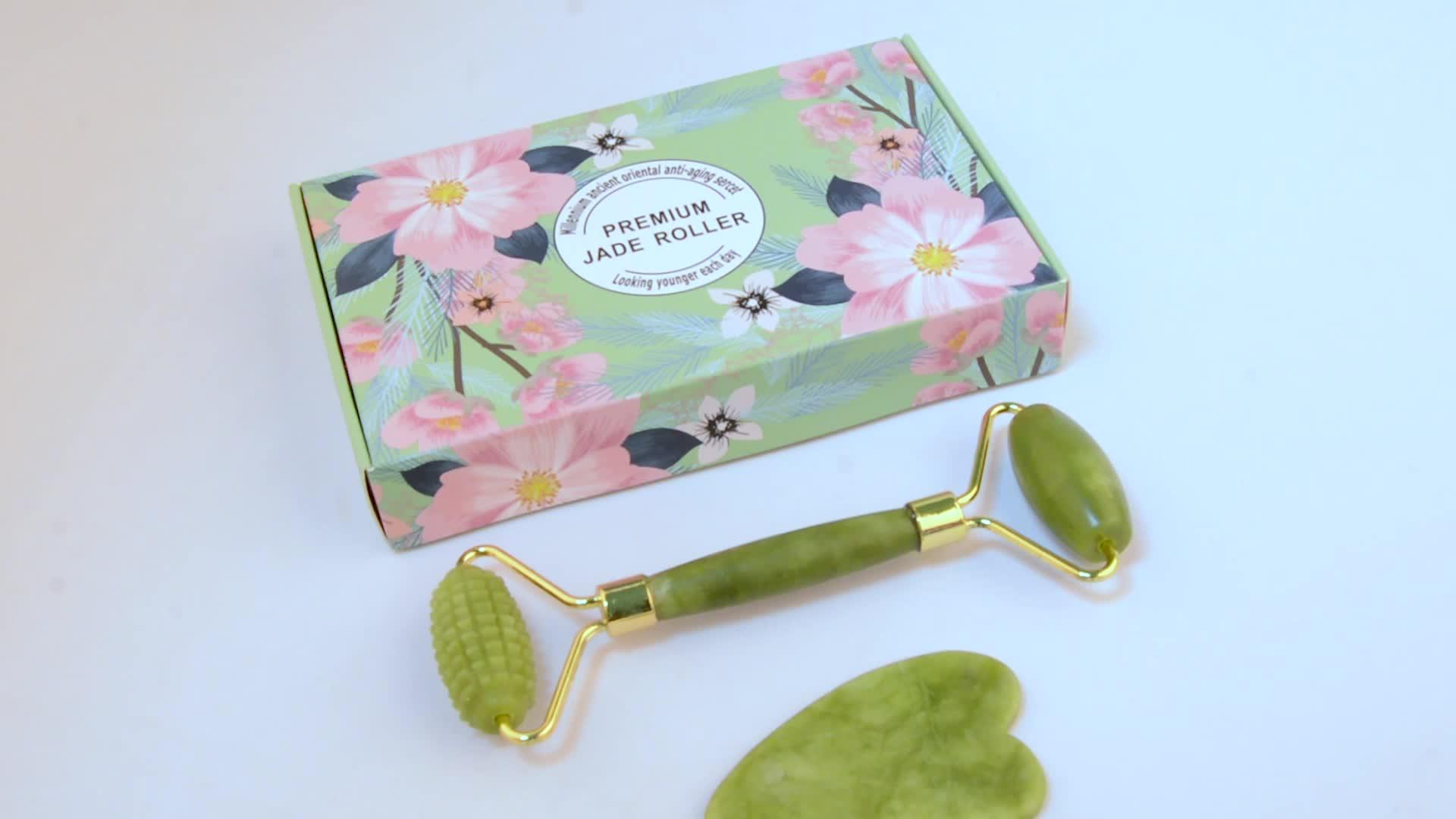 Intensive Massage Jade Roller Natural Jade Massager Jade Facial