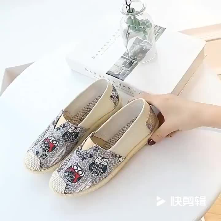 Espadrilles Wholesale Bulk Mixing Pattern Walking Low Price Mens Breathable Women Slip On Canvas Casual Shoes