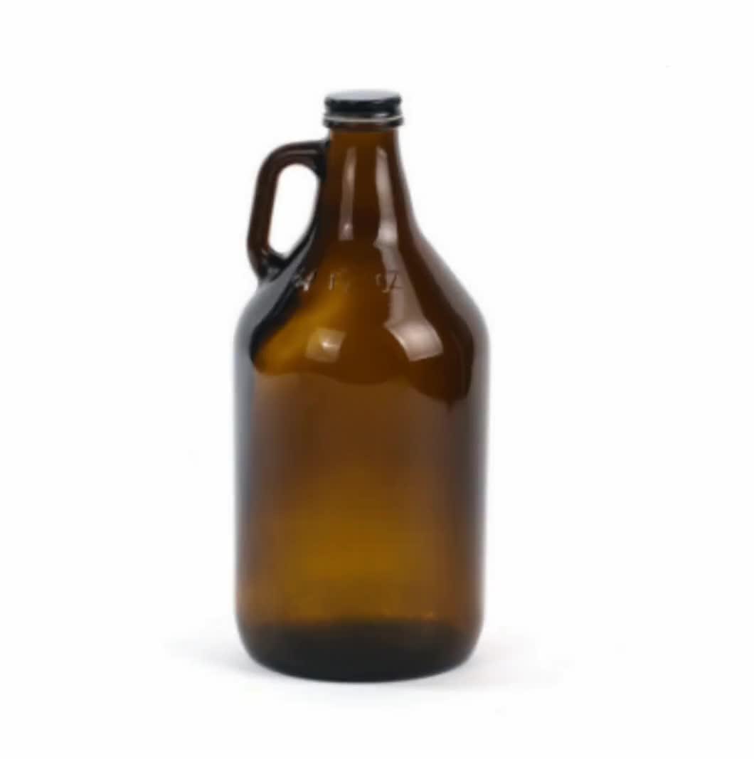 CUSTOM 2 Liter California Wine 2000 Ml Botol Kaca Amber dengan Menangani Grosir