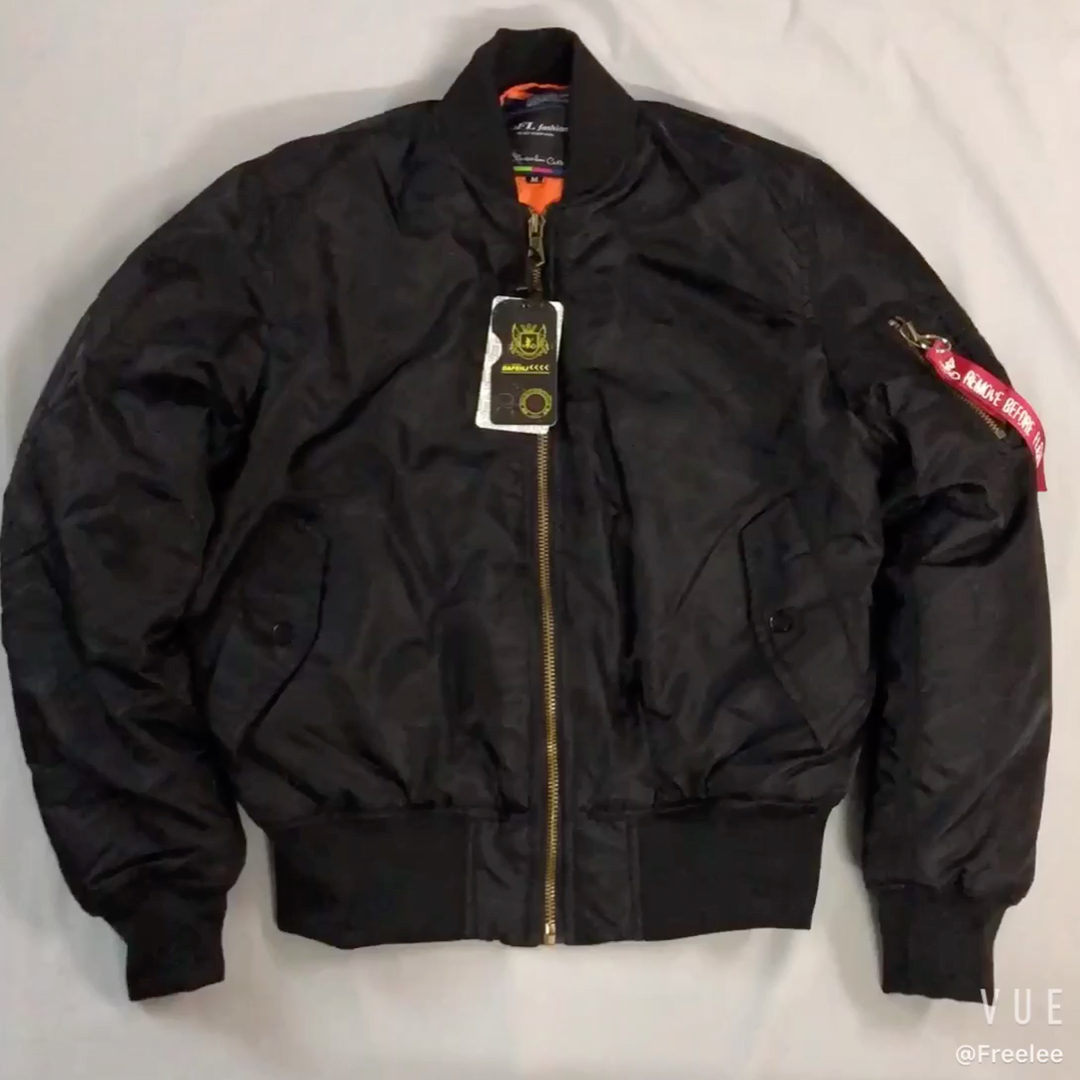 Bombardeiro jaqueta de vôo ma1 Oversize em branco personalizado de alta qualidade dos homens