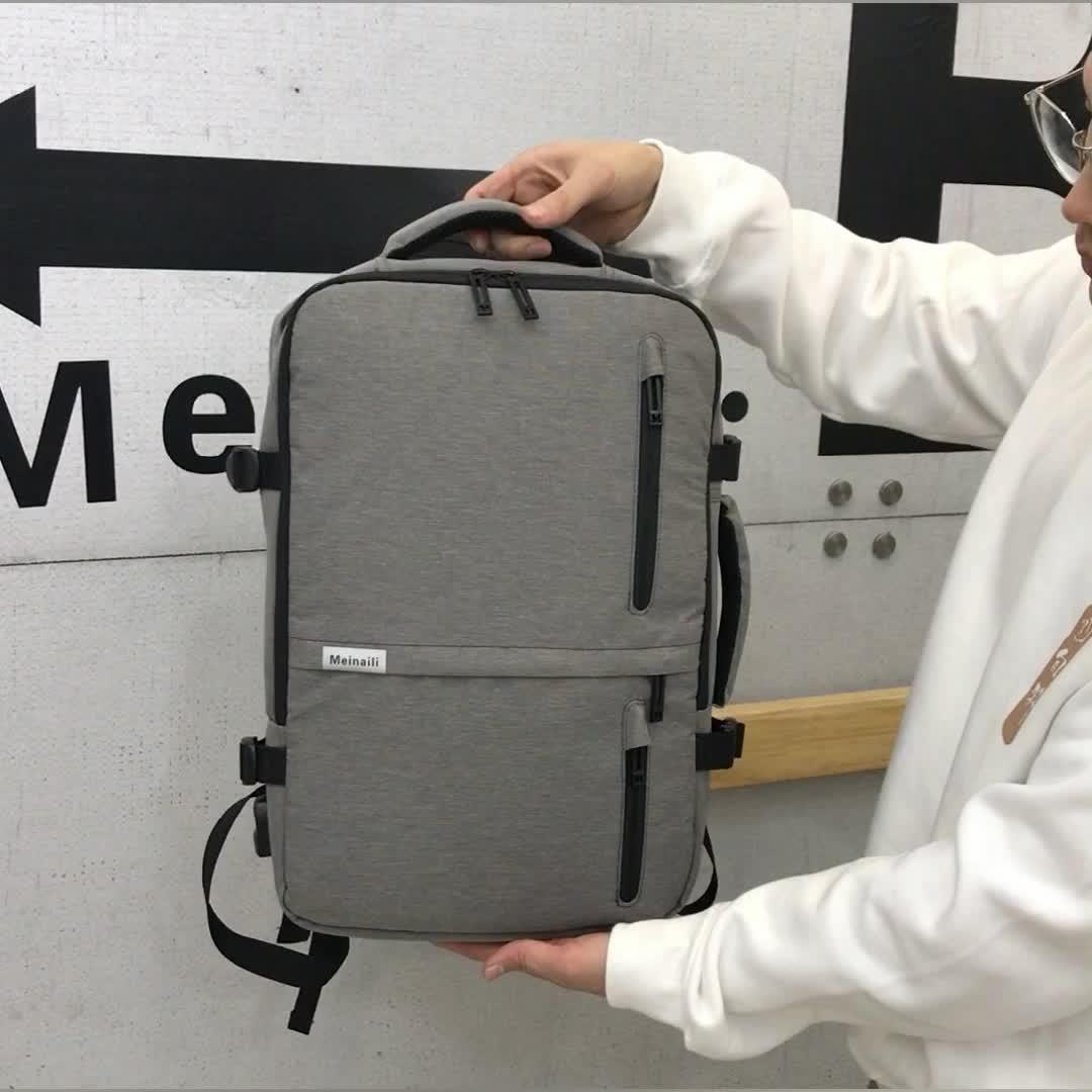 Mens โพลีเอสเตอร์กระเป๋าคอมพิวเตอร์โรงเรียน Anti - theft กระเป๋าเป้สะพายหลัง