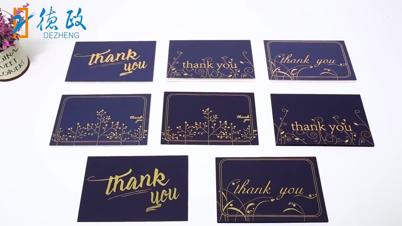 Custom Printed 36 Pack 48 Pack 100Pack Thank You Greeting Cards For Christmas