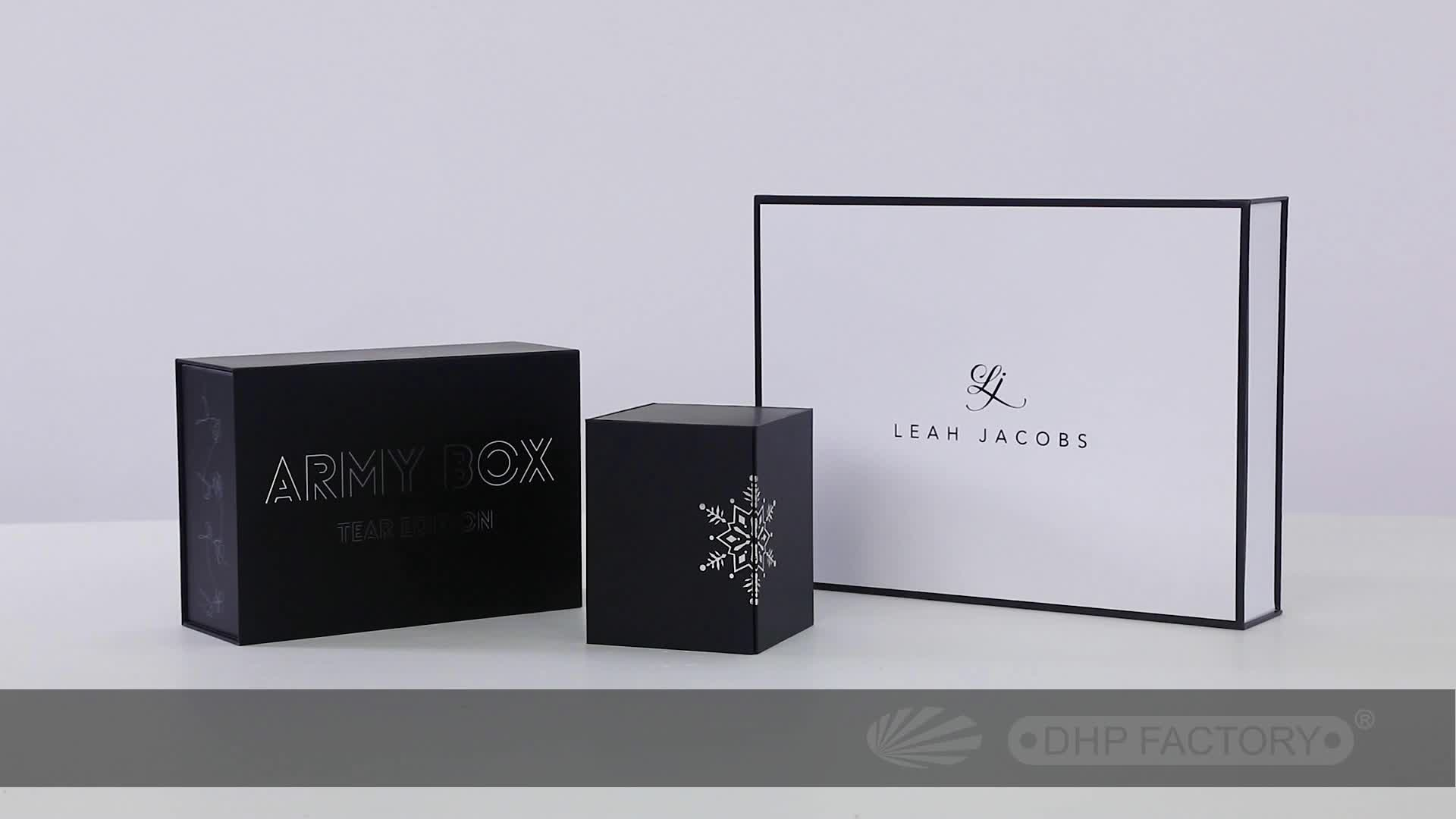 Black Magnetic Closure Flip Lid Square Luxury Rigid Cardboard Paper Packaging Gift Custom Shoe Box With Logo