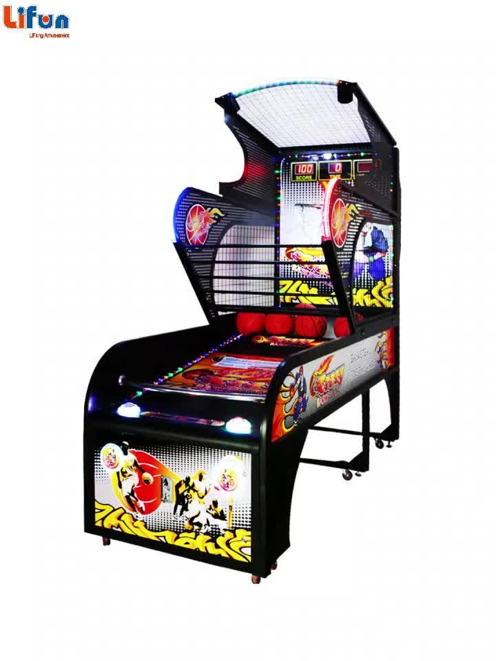 G01 ผู้ใหญ่ในร่มอิเล็กทรอนิกส์เหรียญดำเนินการ Skill ยิง Crazy Hoop Street บาสเกตบอลอาเขตเกมเครื่องขายฟิลิปปินส์