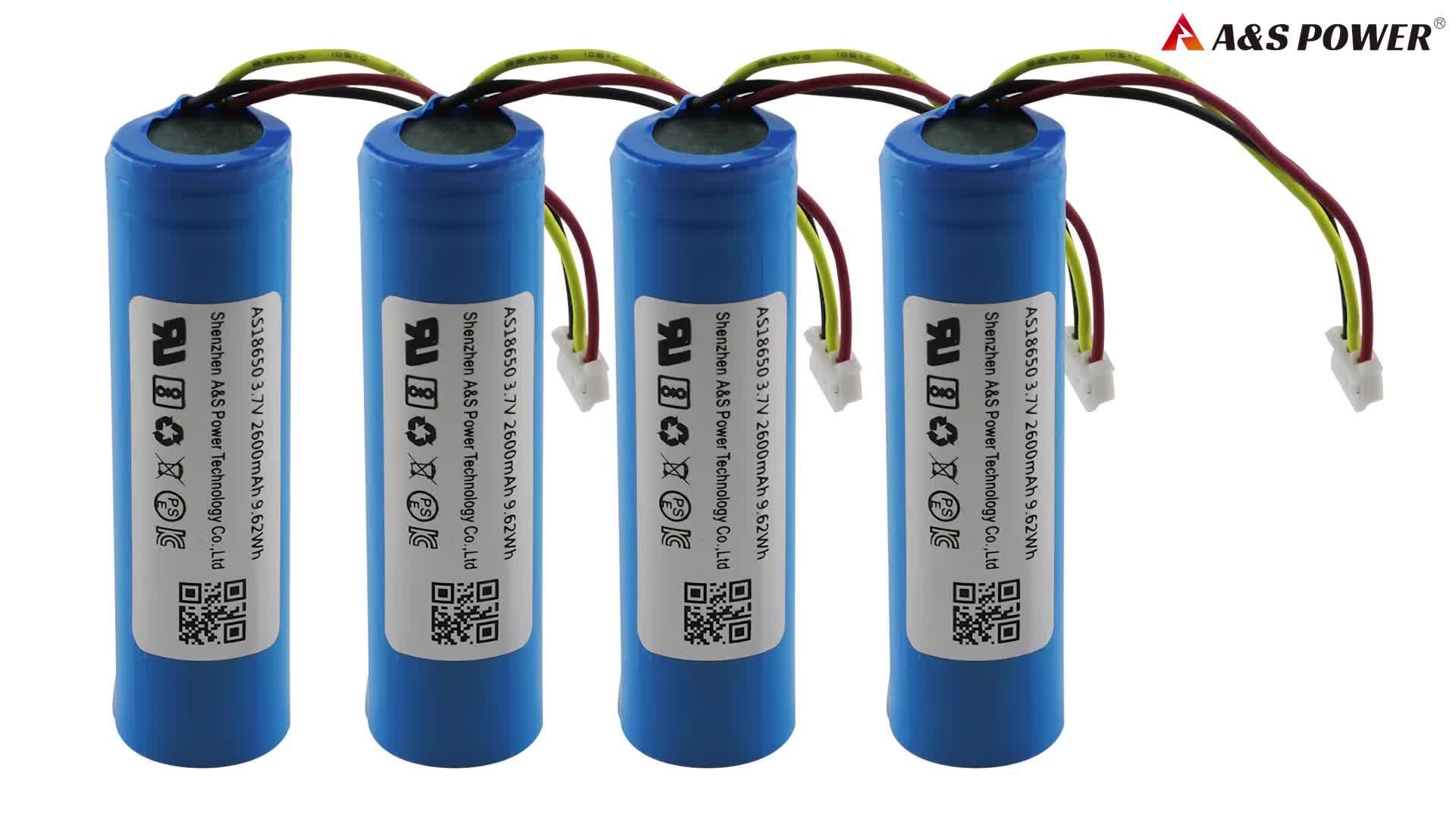 Batterie ricaricabili agli ioni di litio della batteria 3.7v 2000 celle 18650 mah per la banca di potere