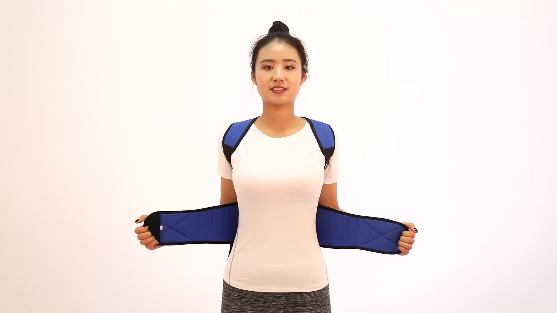 2019 di Qualità Aggiornamento regolabile in neoprene terapia magnetica torna postura correttore per il mal di schiena e di buona postura del corpo