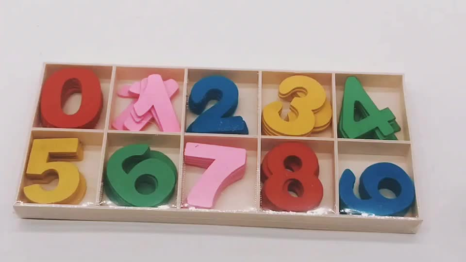 Colorful Wooden Toys Mathmatic Numbers With Double-sided Adhesive