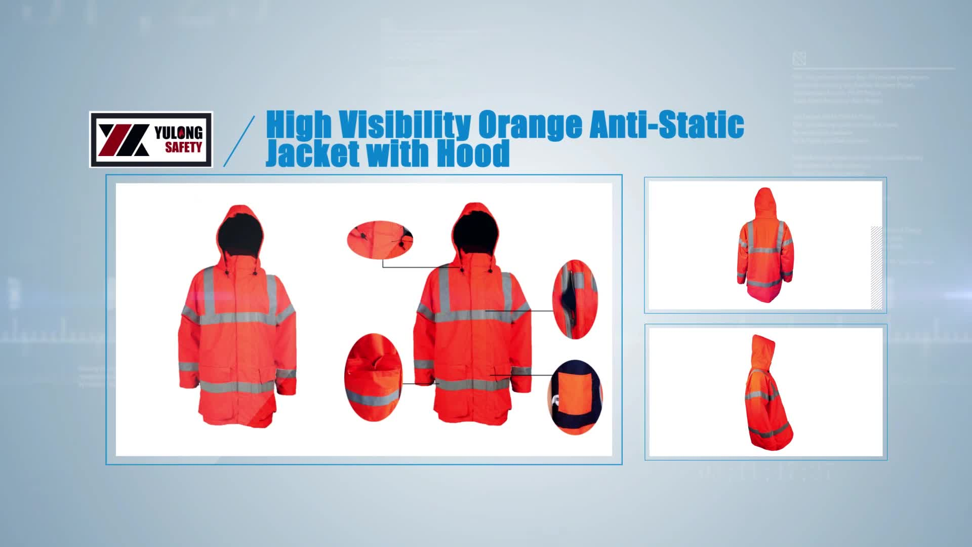 Outdoor Winter Construction Reflective EN471 Safety Jackets