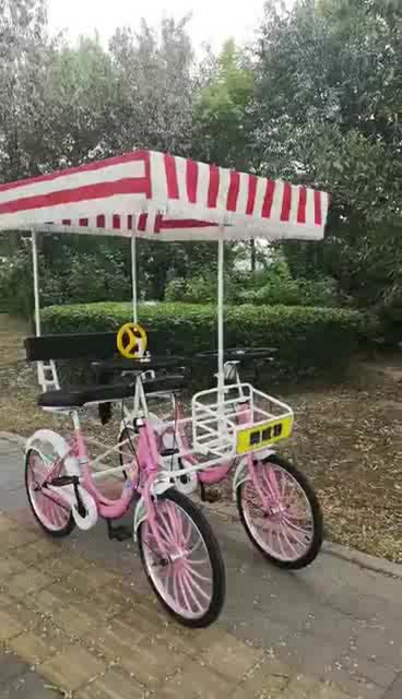 """Jack 24"""" two seater tandem bike sightseeing bicycle/tandem bike road aluminum frame/Fun Pedal Family Quadricycle"""