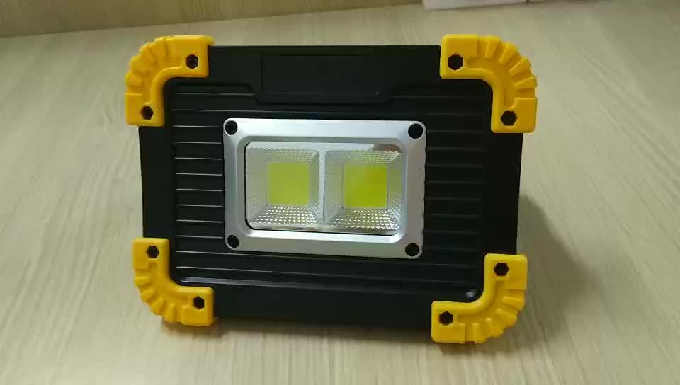 20 watt cob led lampu kerja 1000 lumens usb luar sorot powerfull led rechargeable banjir cahaya