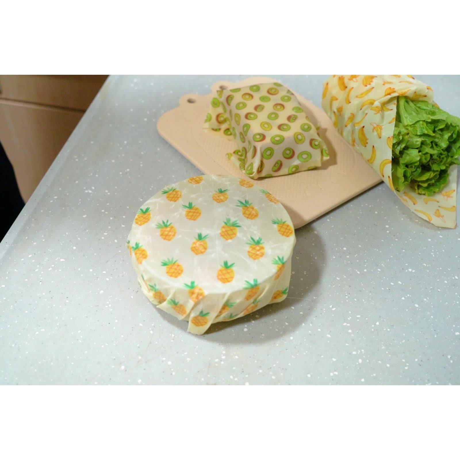 L'environnement Organique Biodégradable Coton Lavable Réutilisable D'emballage Alimentaire Stockage Emballage Cire D'abeille Wrap